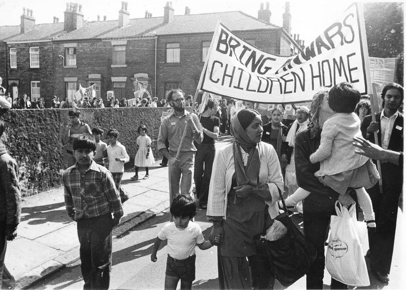 Photograph of Anwar Ditta Defence Campaign demonstration, April 1980